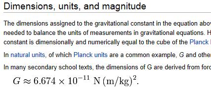 gravity constant